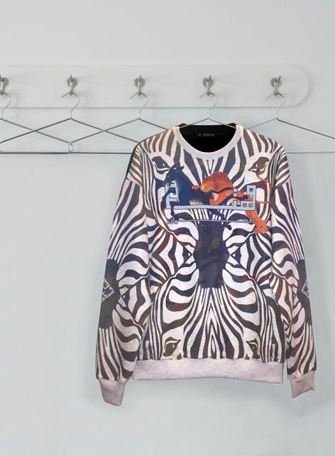 Zebra-Sweatshirt